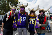 Minnesota Vikings fans during the International Series match between Cleveland Browns and Minnesota Vikings at Twickenham, Richmond, United Kingdom on 29 October 2017. Photo by Jason Brown.
