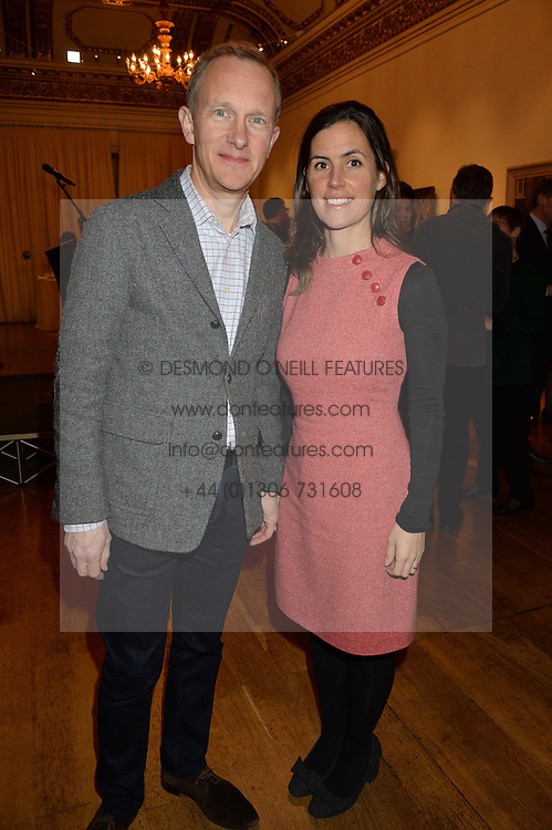 LONDON, ENGLAND 28 NOVEMBER 2016: Simon Thurley, Anna Keay at a reception to celebrate the publication of The Sovereign Artist by Christopher Le Brun and Wolf Burchard held at the Royal Academy of Art, Piccadilly, London, England. 28 November 2016.