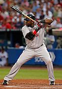 Boston first baseman David Ortiz at bat during the game between the Atlanta Braves and the Boston Red Sox at Turner Field in Atlanta, GA on June 19, 2007..