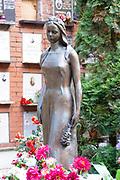 Grave of Raisa Maximovna Gorbacheva (1932-1999), spouse of the Soviet leader Mikhail Gorbachev at Novodevichy Cemetery in Moscow, Russia