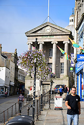 Lloyds Bank in the old Market House, Market Jew Street, Penzance, Cornwall UK