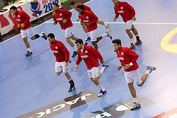 Portugal's Warming up prior to the handball match between National teams of Slovenia and Portugal in the Qualifications of the EHF EURO 2012, on October 27, 2010 at Arena Zlatorog, Celje, Slovenia. (Photo By Vid Ponikvar / Sportida.com)