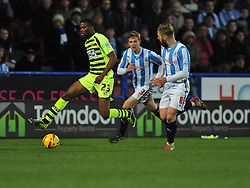 Yeovil Town's Joel Grant attacks inside the huddersfield half. - Photo mandatory by-line: Alex James/JMP - Tel: Mobile: 07966 386802 29/12/2013 - SPORT - FOOTBALL - John Smith's Stadium - Huddersfield - Huddersfield Town v Yeovil Town - Sky Bet Championship