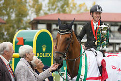 Brash Scott, (GBR), Hello Sanctos winners of the CP International Grand Prix presented by Rolex<br /> Spruce Meadows Masters - Calgary 2015<br /> © Hippo Foto - Dirk Caremans<br /> 13/09/15