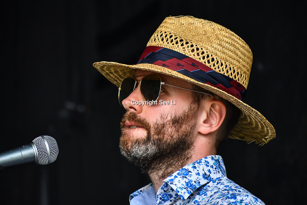 London, UK. 21th July, 2019. Casino Moon performs at the Lambeth Country Show 2019 a family festival with live music food & drinks, Arts and Culture and animal show at Brockwell Park, London.