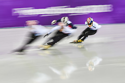 February 17, 2018 - Pyeongchang, Gangwon, South Korea - Seo Yira of  South Korea competing in 1000 meter speed skating for men at Gangneung Ice Arena, Gangneung, South Korea on 17 February 2018. (Credit Image: © Ulrik Pedersen/NurPhoto via ZUMA Press)
