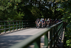 Peloton cross the highway at Boels Rental Ladies Tour Stage 5 a 141.8 km road race from Stamproy to Vaals, Netherlands on September 2, 2017. (Photo by Sean Robinson/Velofocus)