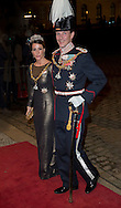 Copenhagen , 01-01-2017<br /> <br /> New Years Levee at Amalienborgpalace with Queen Margrethe and Prince Henrik, Crownprince Frederik and Crownprincess Mary, Prince Joachim and Princess Marie.<br /> <br /> <br /> <br /> <br /> COPYRIGHT ROYALPORTRAITS EUROPE/ BERNARD RUEBSAMEN
