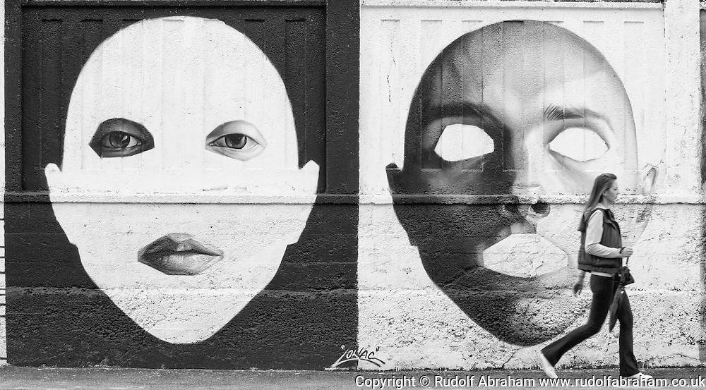 Mural by Croatian street artist Lonac on Branimirova, between the main railway station (Glavni kolodvor) and the bus station, Zagreb, Croatia