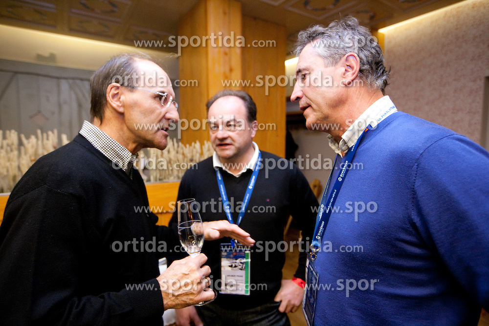 Reinhard Tritscher (AUT), Franz Gruber (AUT) and Peter Frei (SUI) at meeting of former Alpine Ski racers named as Vitranc Legends - Winners of Vitranc Cup  at FIS Ski World Cup Alpine Kranjska Gora, on March 5, 2011 in Kranjska Gora, Slovenia.  (Photo By Vid Ponikvar / Sportida.com)