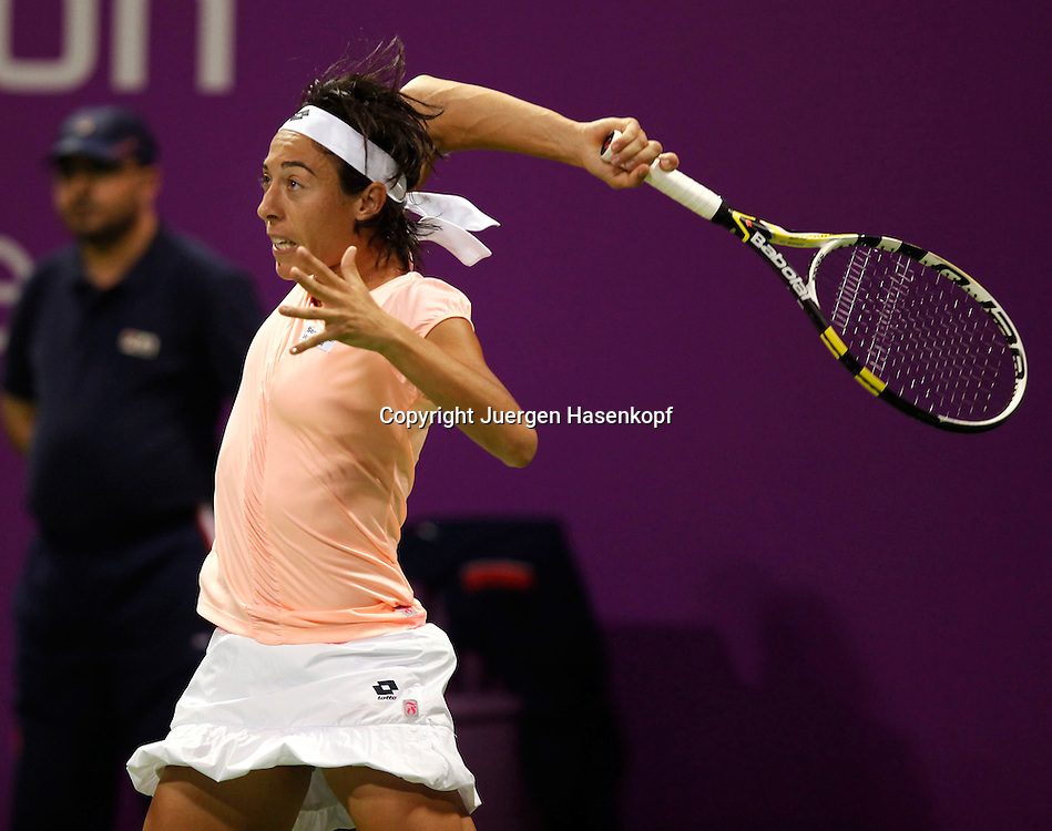 WTA Championships 2010 in Doha / Qatar , internationales WTA TennisTurnier, Damen Tennis WM, Spielerin Francesca Schiavone (ITA)),action