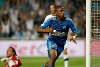 FOOTBALL - FRENCH CHAMPIONSHIP 2010/2011 - L1 - OLYMPIQUE MARSEILLE v VALENCIENNES FC - 21/05/2011 - PHOTO PHILIPPE LAURENSON / DPPI - ANDRE AYEW (OM) JOY AFTER GOAL