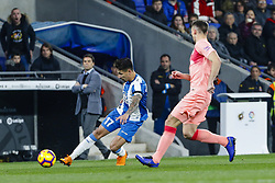 December 8, 2018 - Barcelona, Catalonia, Spain - RCD Espanyol forward Hernan Perez (17) during the match RCD Espanyol against FC Barcelona, for the round 15 of the Liga Santander, played at RCD Espanyol Stadium  on 8th December 2018 in Barcelona, Spain. (Credit Image: © Mikel Trigueros/NurPhoto via ZUMA Press)