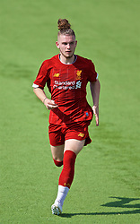 NAPLES, ITALY - Tuesday, September 17, 2019: Liverpool's Harvey Elliott during the UEFA Youth League Group E match between SSC Napoli and Liverpool FC at Stadio Comunale di Frattamaggiore. (Pic by David Rawcliffe/Propaganda)