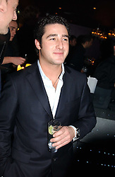 LUCA DEL BONO at a party hosted by Panerai and the Baglioni Hotel, 60 Hyde Park Gate, London on 6th December 2004.<br />
