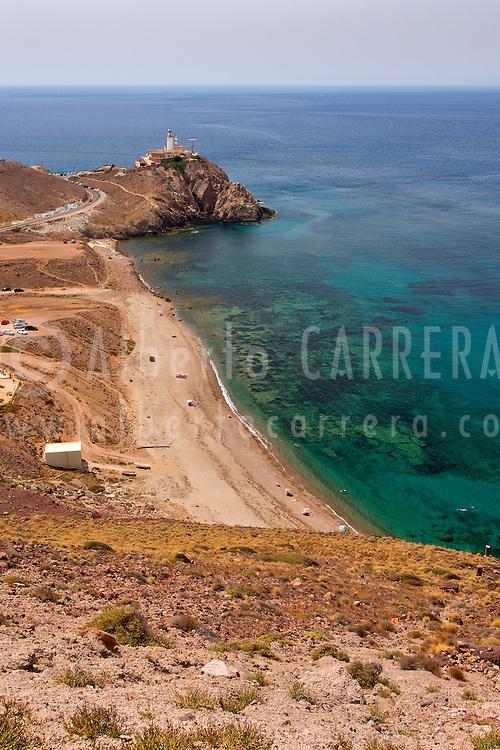 Alberto Carrera, Cabo de Gata Ligthhouse, Las Sirenas Viewpoint, Las Sirenas Reef, Mermaids Reef, Cabo de Gata-Níjar Natural Park, Biosphere Reserve, Almería, Andalucia, Spain, Europe