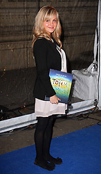 Tina O'Brien arriving at the Cirque Du Soleil: Totem - gala night held at  the Royal Albert Hall in London, Thursday 5th January 2012. Photo by: Stephen Lock / i-Images