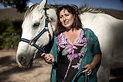 Stacey Doorly-Jones - age 42 - Stacey is the founder of the Montrose Equine Youth Development Programme and currently manages the Montrose Foundation - she's pictured here with her beloved horse Miracle Blue 27 December, 2011