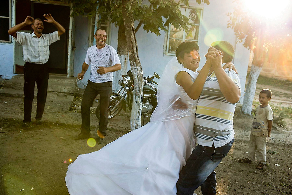 The bride is dancing with the godfather, Joltai, Moldova Republic