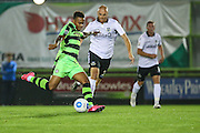 Forest Green Rovers Keanu Marsh-Brown (7) has an early shot during the Vanarama National League match between Forest Green Rovers and Eastleigh at the New Lawn, Forest Green, United Kingdom on 13 September 2016. Photo by Shane Healey.