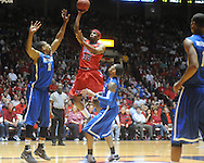 "Mississippi's Zach Graham (32) vs. Memphis in NIT second round basketball action at the C.M. ""Tad"" Smith Coliseum in Oxford, Miss. on Friday, March 19, 2010. Ole Miss won 90-81."