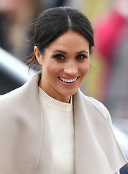 Prince Harry and Meghan Markle visit the Crown Liquor Saloon and meet the people of Belfast in Northern Ireland, UK, on the 23rd March 2018. Picture by James Whatling. 23 Mar 2018 Pictured: Meghan Markle. Photo credit: James Whatling / MEGA TheMegaAgency.com +1 888 505 6342