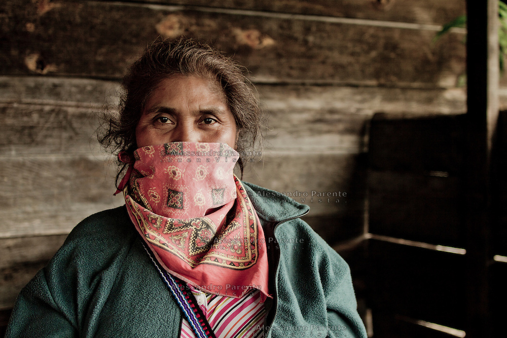Zapatist woman.<br /> Zapatista.