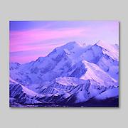Alaska. McKinley Winter Alpenglow