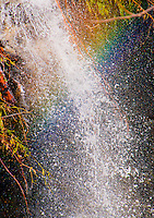 Rainbow captured closeup in a waterfall in Valle Onsernone, Ticino, Southern Switzerland.
