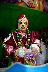 10 February 2013. New Orleans, Louisiana. .Mardi Gras. The Krewe of Thoth, in existence since 1947 parades through Uptown New Orleans..Photo; Charlie Varley.