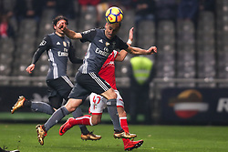 January 13, 2018 - Braga, Braga, Portugal - Benfica's Brazilian forward Jonas score a goal during the Premier League 2017/18 match between SC Braga and SL Benfica, at Municipal de Braga Stadium in Braga on January 13, 2018. (Credit Image: © Dpi/NurPhoto via ZUMA Press)