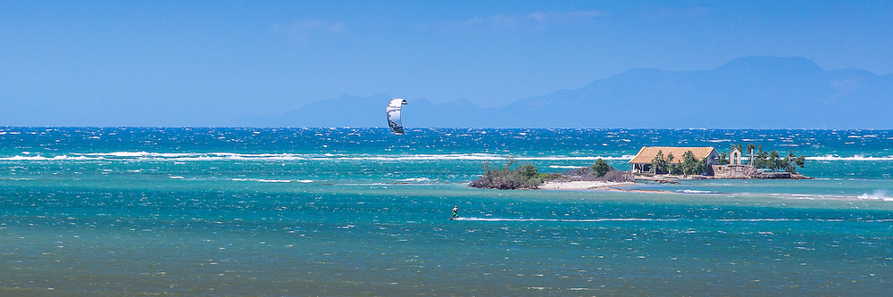 Kitesurfing at Aghios Nikolaos, Greece
