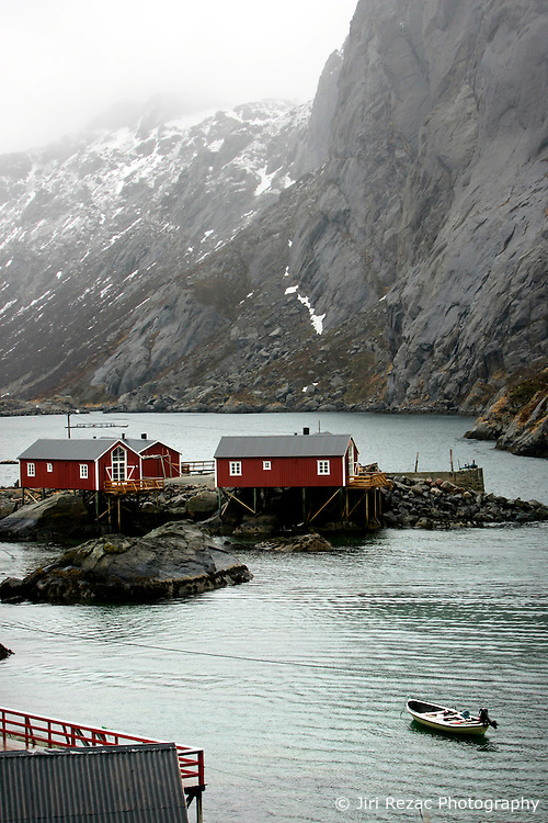 NORWAY LOFOTEN 29MAR07 - Traditional fishermen's cottages, rorbu, in Nusfjord on the Lofoten islands...jre/Photo by Jiri Rezac..© Jiri Rezac 2007..Contact: +44 (0) 7050 110 417.Mobile:  +44 (0) 7801 337 683.Office:  +44 (0) 20 8968 9635..Email:   jiri@jirirezac.com.Web:    www.jirirezac.com..© All images Jiri Rezac 2007 - All rights reserved.