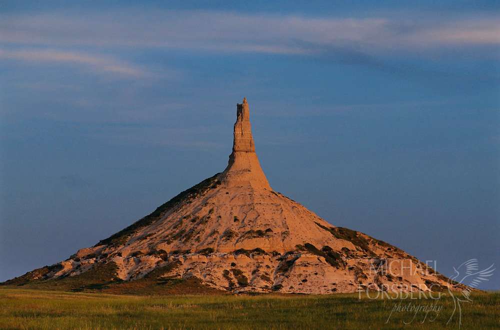 Chimney Rock - Oregon Trail. Nebraska Panhandle.