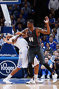 LEXINGTON, KY - DECEMBER 5: Karl-Anthony Towns #12 of the Kentucky Wildcats fights for position against Prince Ibeh #44 of the Texas Longhorns during the game at Rupp Arena on December 5, 2014 in Lexington, Kentucky. The Wildcats defeated the Longhorns 63-51. (Photo by Joe Robbins)