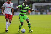 Forest Green Rovers Drissa Traoré(4) on the ball during the EFL Sky Bet League 2 match between Forest Green Rovers and Accrington Stanley at the New Lawn, Forest Green, United Kingdom on 30 September 2017. Photo by Shane Healey.