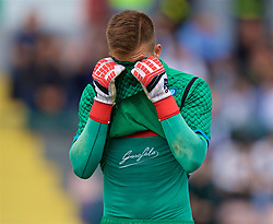 NAPLES, ITALY - Wednesday, October 3, 2018: Napoli's goalkeeper Alessandro D'Andrea looks dejected during the UEFA Youth League Group C match between S.S.C. Napoli and Liverpool FC at Stadio Comunale di Frattamaggiore. (Pic by David Rawcliffe/Propaganda)