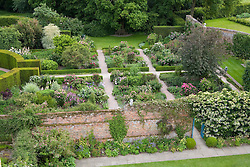 View of the Rose Garden from the Tower at Sissinghurst Castle Garden