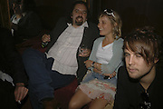 Keith Tyson and VIRGINIA DAMSTA, THANK YOU FOR THE MUSIC (LONDON BEAT) opening , SPR†TH MAGERS LEE and afterwards in the Grill Room of the Cafe Royal. 29 June 2006. ONE TIME USE ONLY - DO NOT ARCHIVE  © Copyright Photograph by Dafydd Jones 66 Stockwell Park Rd. London SW9 0DA Tel 020 7733 0108 www.dafjones.com
