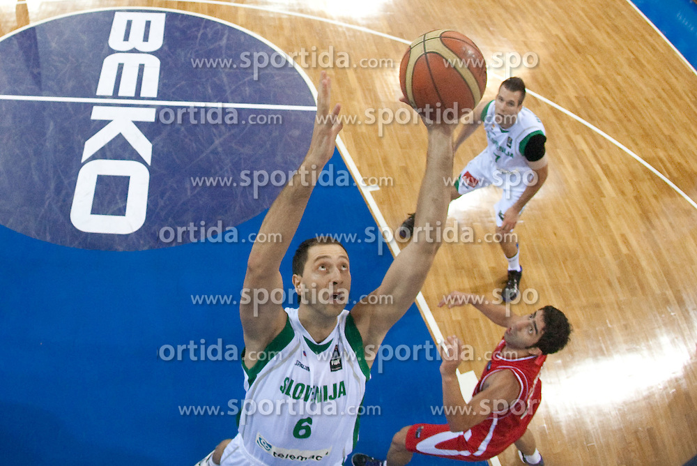 Hasan Rizvic of Slovenia during  the Preliminary Round - Group B basketball match between National teams of Slovenia and Iran at 2010 FIBA World Championships on September 2, 2010 at Abdi Ipekci Arena in Istanbul, Turkey. (Photo By Vid Ponikvar / Sportida.com)