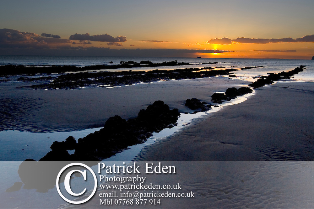 isle of wight, beach, Compton Bay, wave cut platform, Fossil, Dinosaur, coast, sunset Photographs of the Isle of Wight by photographer Patrick Eden photography photograph canvas canvases
