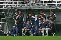 Photo: Andrew Unwin.<br />Newcastle United v West Bromwich Albion. The Barclays Premiership. 22/04/2006.<br />The West Bromwich bench look dejected as they lose to Newcastle.