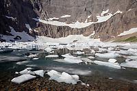 MT00119-00...MONTANA - Iceberg Lake in Glacier National Park.