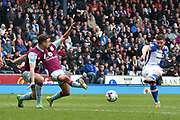 Blackburn Rovers Midfielder, Craig Conway (32) shoots  during the EFL Sky Bet Championship match between Blackburn Rovers and Aston Villa at Ewood Park, Blackburn, England on 29 April 2017. Photo by Mark Pollitt.