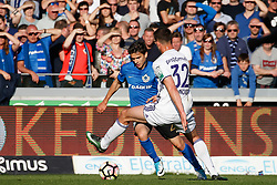 May 14, 2017 - Brugge, BELGIUM - Club's Dorin Rotariu and Anderlecht's Leander Dendoncker fight for the ball during the Jupiler Pro League match between Club Brugge and RSC Anderlecht, in Brugge, Sunday 14 May 2017, on day 8 (out of 10) of the Play-off 1 of the Belgian soccer championship. BELGA PHOTO BRUNO FAHY (Credit Image: © Bruno Fahy/Belga via ZUMA Press)