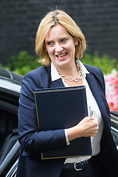 Downing Street, London, September 9th 2016.  Home Secretary Amber Rudd arrives at Downing street for the weekly cabinet meeting following the Parliamentary summer recess.