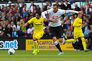 Richard Keogh and Jonathan Pereira during the Pre-Season Friendly match between Derby County and Villarreal CF at the iPro Stadium, Derby, England on 29 July 2015. Photo by Aaron Lupton.