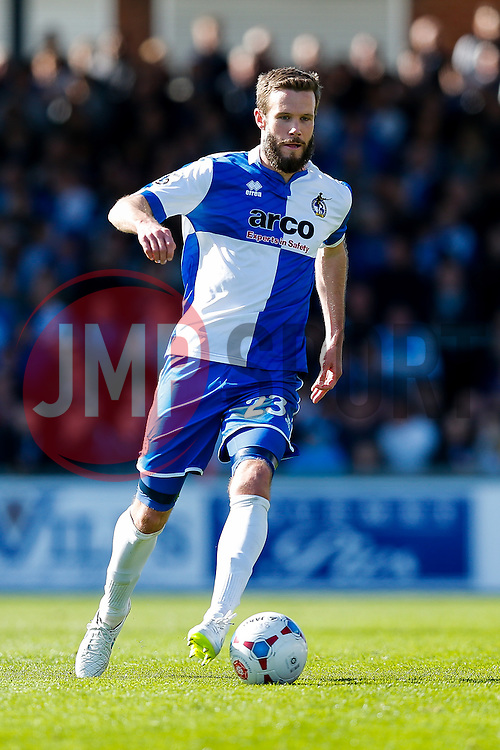 Andy Monkhouse of Bristol Rovers in action - Photo mandatory by-line: Rogan Thomson/JMP - 07966 386802 - 11/04/2015 - SPORT - FOOTBALL - Bristol, England - Memorial Stadium - Bristol Rovers v Southport - Vanarama Conference Premier.
