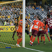in action during the Central Coast Mariners V Brisbane Roar A-League match at Bluetongue Stadium, Gosford, Australia, 19 December 2009. Photo Tim Clayton