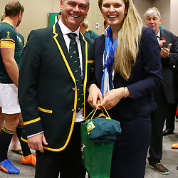 LONDON, ENGLAND - OCTOBER 29: General views Heyneke Meyer (Head Coach) of South Africa during the South African national rugby team Official team photograph at Radisson Blu Edwardian, Guildford on October 29, 2015 in London, England. (Photo by Steve Haag/Gallo Images)
